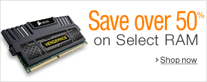 50% or More Off Select Computer Memory