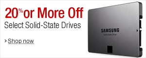 Get 20% or More Off Select Solid State Drives