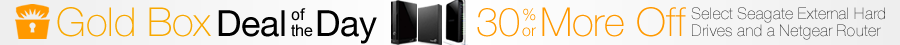 Gold Box Deal of the Day: 30% or More Off Select Seagate External Hard Drives and a Netgear Router