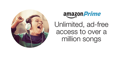 Unlimited, ad-free access to over a million songs with Amazon Prime