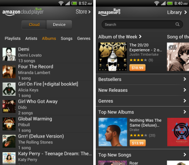 how to send my music from android phone to tablet