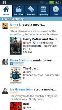 Integrate with your Netflix queue, Flixster, or Facebook