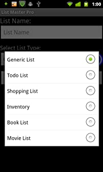 Choose from a variety of list templates