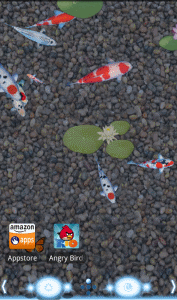 Anipet koi live wallpaper free appstore for for Virtual koi fish pond