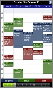 business calendar