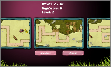 Make your way through varied waves and levels