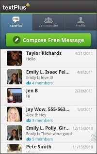 textPlus Free  Free Text + Group Text