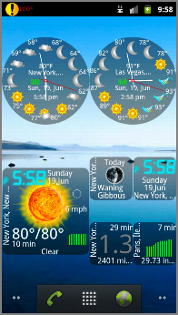 Choose from a variety of cool widgets