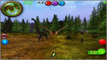 Avoid the rebel dinos while gathering eggs and power-ups