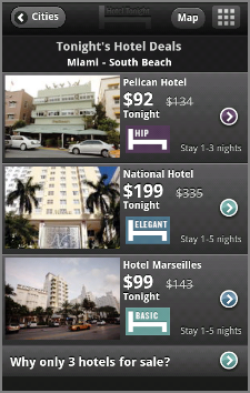 Choose from three great hotels in lots of major cities