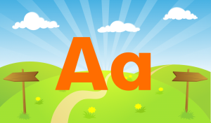 Kids ABC Letters has four sections: