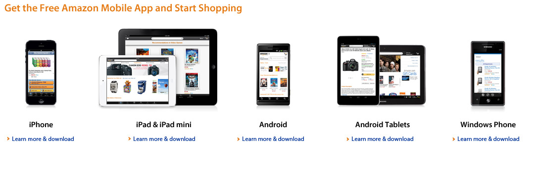 Get the free Amazon Mobile App for your device