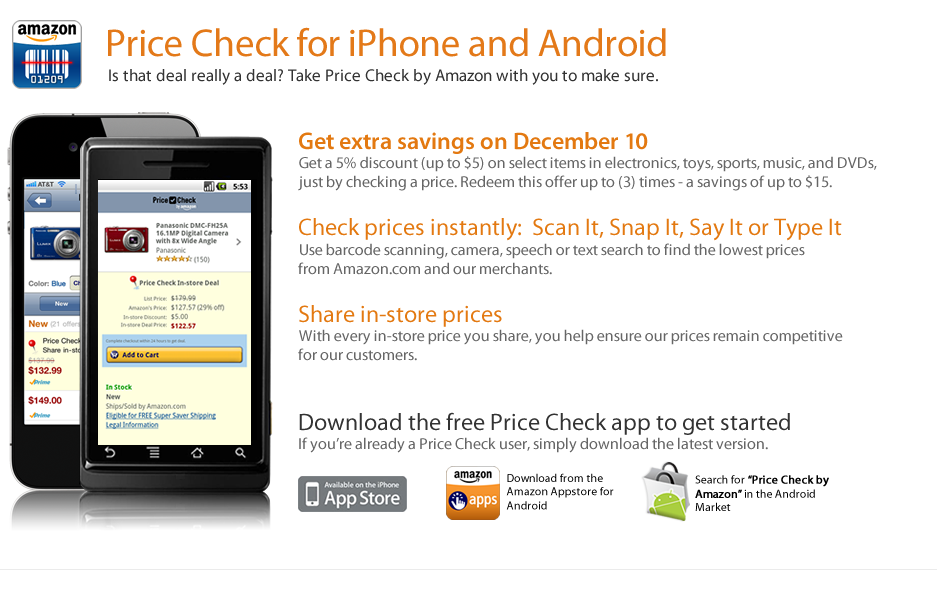 Price Check by Amazon - Mobile In-Store Deals