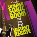 Fender Sonic Boom Instant Rebate