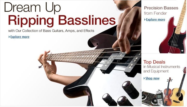 Shop for Bass Guitars: Electric Bass, Acoustic Bass, Bass Amps and Bass Accessories