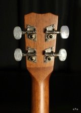 Detail of the gold and pearl tuning machines.