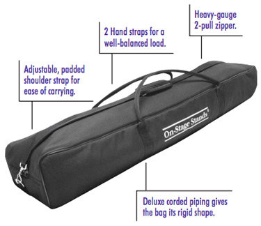 On-Stage SSB6500 Speaker/Microphone Stand Bag
