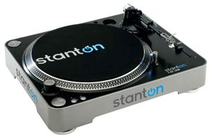 Stanton T55USB USB Belt-Drive DJ Turntable with 500.v3 Cartridge