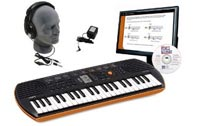 Casio SA76 EDP Personal Keyboard Package with Closed-Cup Headphones, Power Supply, and Instructional Software