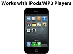 Works with iPods/MP3 Players
