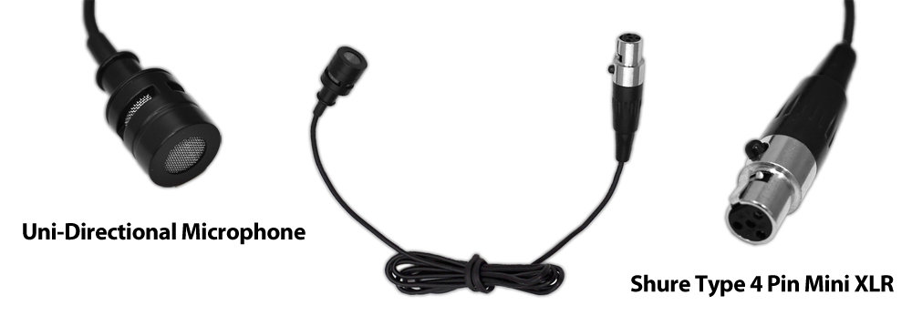 pyle pro plms30 wired lavalier mini xlr uni directional microphone for shure