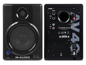 M-Audio AV40 Front Back Image