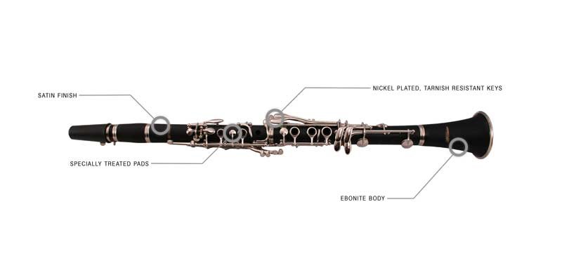 Features of the LJ Hutchen Bb Clarinet