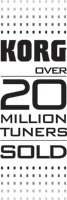 Korg over 20 million tuners sold