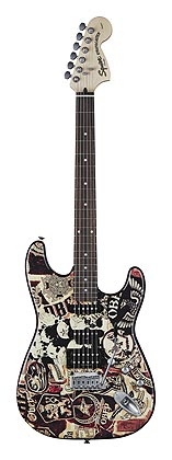 Squier by Fender OBEY Graphic Stratocaster