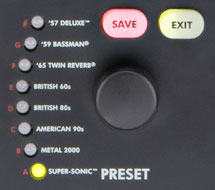 MUSTANG I  amplifier modeling preset controls