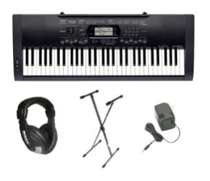 B001FSJC14 1 Casio CTK 3000 Premium Pack with Power Supply, Keyboard Stand and Professional Closed Cup Stereo Headphones