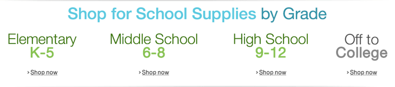 Shop for School Supplies by Grade
