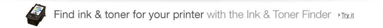 Find ink & toner for your printer with the Ink & Toner Finder