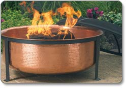 CobraCo Hand-Hammered Copper Fire Tub