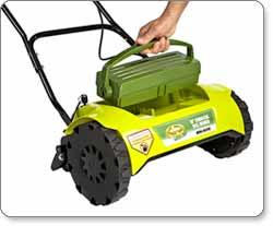 Sun Joe Mow Joe MJ420C 16-Inch Cordless 24-Volt Reel Lawn Mower with Grass Catcher