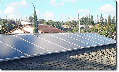Grape Solar Residential Solar Power System on roof