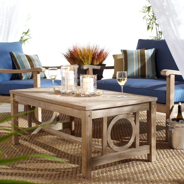 Strathwood Signature Tavolara Teak Deep Seat Loveseat Patio Furniture Sale