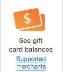 See gift card balances