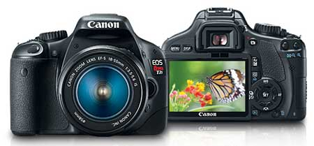 Canon EOS Rebel T2i 18 MP CMOS APS-C Digital SLR Camera with 3.0-Inch LCD and EF-S 18-55mm f/3.5-5.6 IS Lens