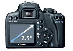 Canon EOS Rebel XS highlights