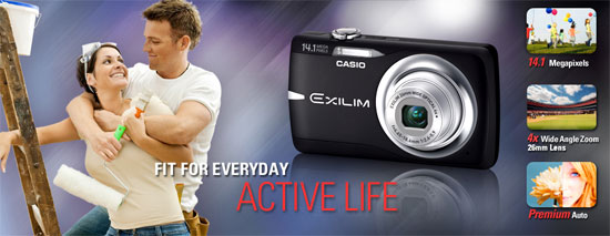 Casio Exilim EX-Z550 highlights