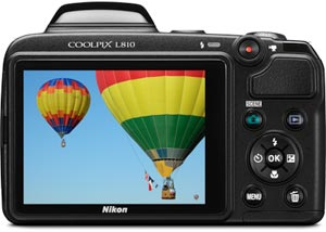 Nikon COOLPIX L810 16.1 MP Digital Camera Brilliant 3.0-inch LCD monitor