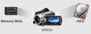 Sony DCR-SR220 Highlights