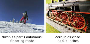 Nikon's sport continuous shooting mode and in-camera editing functions