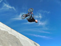 biker doing a flip