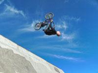 biker doing a flip