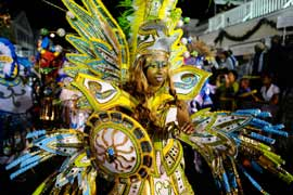 photo of costumed woman in parade