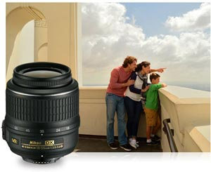 Nikon D3200 24.2 MP CMOS Digital SLR Camera 18-55mm photo of family looking out from balcony