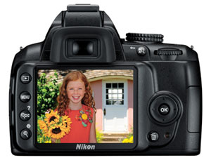 Nikon D3000 digital SLR highlights