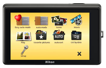 Nikon Coolpix S70 digital camera highlights